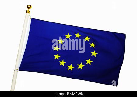 European Union Flag Flying - Stock Photo