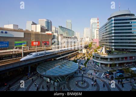 Tokyo Japan Asia place space railway station Yurakucho station Bullet Train speed swiftness fashionably in a modern - Stock Photo