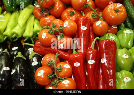 Variety of vegetables at Fruit Logistica 2008, Berlin, Germany - Stock Photo