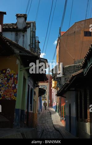 Calle de Embudo Calendaria Old Town Bogota Colombia South America narrow street