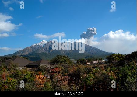 Sakurajima volcano in Kagoshima, Kyushu, Japan - Stock Photo