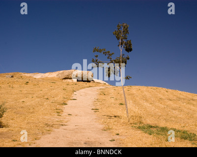 DOLMENS ANCIENT BURIAL GROUND ANTEQUERA ANDALUCIA SPAIN - Stock Photo
