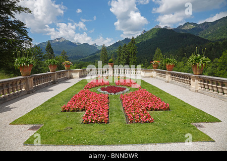 Part of the Rococo garden at Linderhof Palace, Bavaria, Germany - Stock Photo