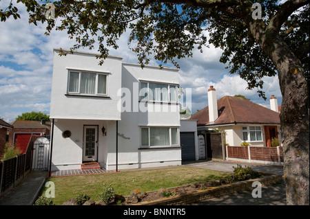 Modern art deco style house at frinton on sea essex uk stock photo