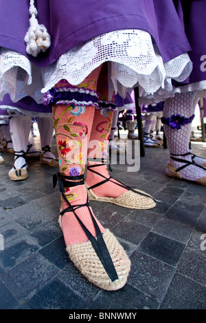 Andalusia Spain Good Friday religion procession custom traveling tourism vacation holidays - Stock Photo