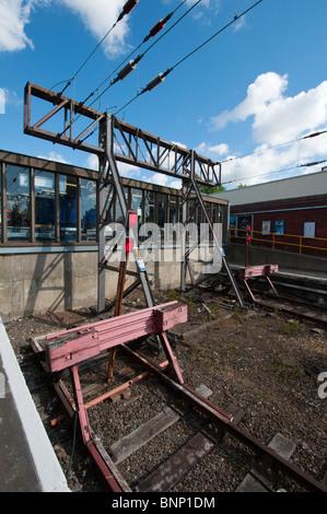 End of the line. Suburban London railway station. England. - Stock Photo