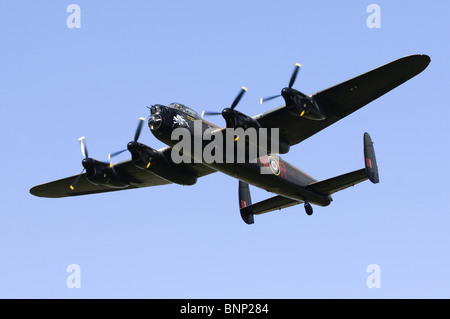 Avro Lancaster B1 plane operated by the RAF Battle of Britain Flight. - Stock Photo