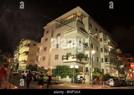 Bauhaus style architecture in Tel Aviv, Israel - Stock Photo