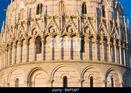 Close-up of the Baptistry, Pisa, Tuscany, Italy - Stock Photo