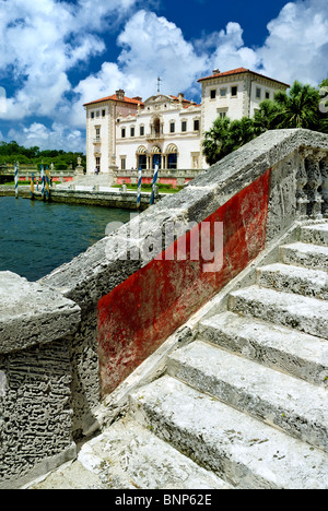 Vizcaya Museum and Gardens is the landmark Villa and Estate  on Biscayne Bay in Miami, Florida. - Stock Photo
