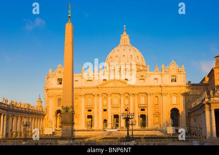 Saint Peter's Basilica, Vatican City, Rome, Italy - Stock Photo