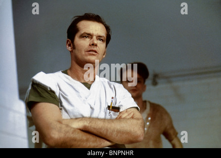 JACK NICHOLSON AND BRAD DOURIF ONE FLEW OVER THE CUCKOO'S NEST (1975) - Stock Photo