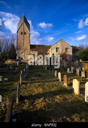 The Church of St Mary the Blessed Virgin in the village of Sompting, near Worthing, West Sussex - Stock Photo