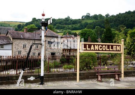 Llangollen Train Station Denbighshire North Wales UK United Kingdom EU European Union Europe - Stock Photo