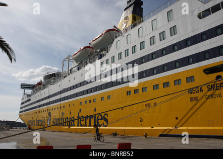 Ferry in the port of Toulon, France, - Stock Photo