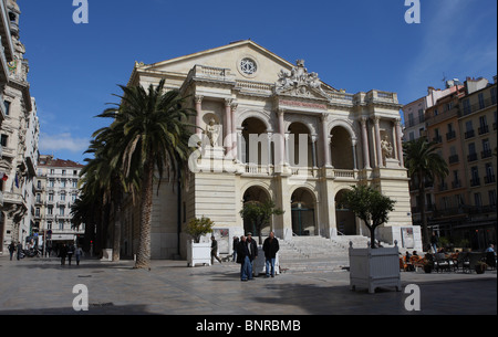 Theatre Municipal,Place Victor Hugo in Toulon,France. - Stock Photo