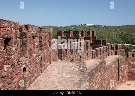 Ancient castle in Silves, Algarve Portugal - Stock Photo