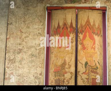 Wat Yai Suwannaram shrine in Phetchaburi, Phetchaburi is an old royal city in the golf of Thailand. - Stock Photo