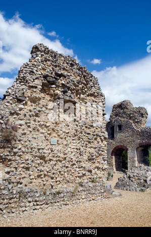 Wolvesey Castle (Old Bishop's Palace) Winchester Hampshire England - Stock Photo