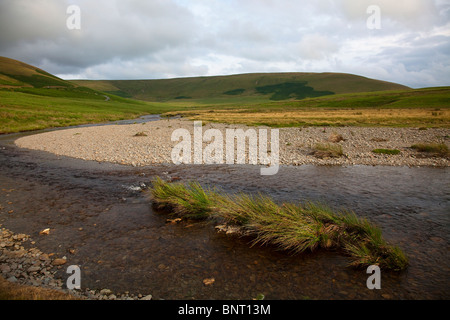 The Elan River on the Monks Trod ancient footpath Wales UK - Stock Photo