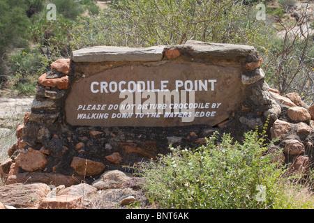 A road sign in Tsavo East national park, Kenya. - Stock Photo