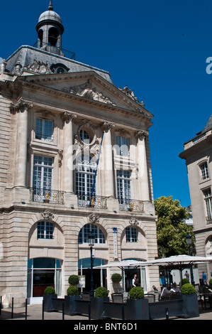 Place de la Bourse (Stock Exchange), Bordeaux, France - Stock Photo