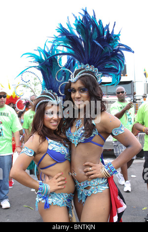 The 43rd (2010) Toronto Caribbean Carnival (Caribana) is the largest Caribbean festival in North America. - Stock Photo