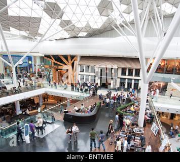 Central Atrium - Westfield Shopping Centre - Shepherd's Bush - London - Stock Photo