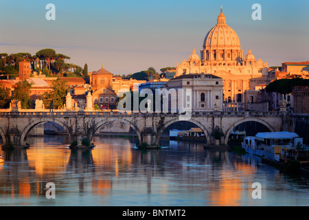 St. Peter's Basilica is a Late Renaissance church located within the Vatican City - Stock Photo