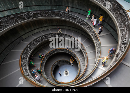 Spiral staircase in the Vatican museums (Italian: Musei Vaticani) - Stock Photo