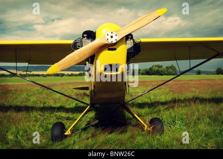 Vintage plane - Stock Photo