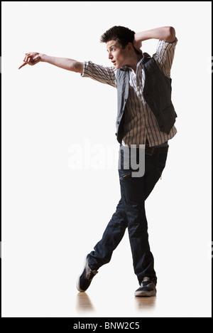 Male dancer performing lyrical dance - Stock Photo