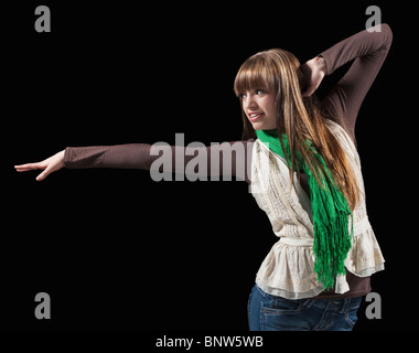Female dancer performing lyrical dance - Stock Photo