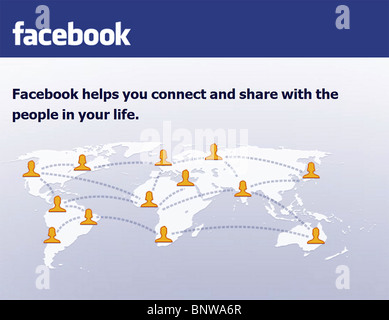 facebook - the social networking website - Stock Photo