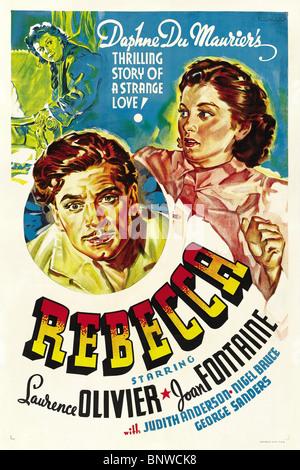 US MOVIE POSTER REBECCA (1940) - Stock Photo