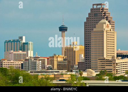 Skyline of San Antonio, Texas, USA - Stock Photo