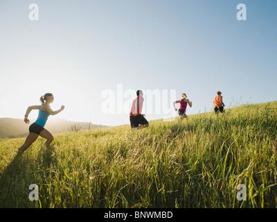 Trail running - Stock Photo