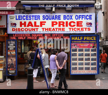 Leicester Square Box Office theatre tickets sales in London, England, U.K. - Stock Photo