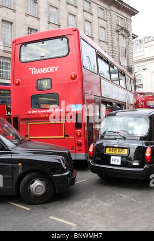 Traffic congestion on a London street. - Stock Photo