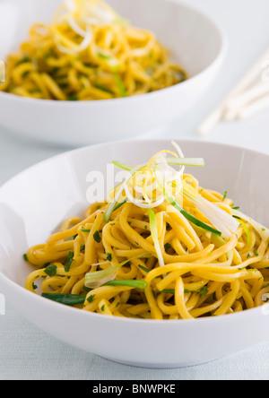 Plain egg noodles - Stock Photo
