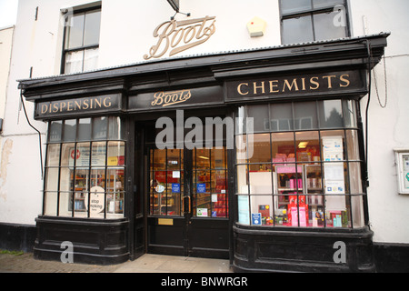 A traditional old-fashioned style Chemist's Shop in Midhurst, Sussex, GU29. - Stock Photo