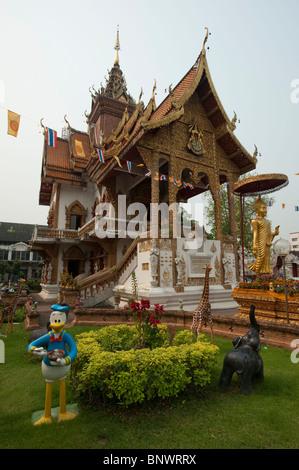 Wat Buppharam, Chiang Mai, Chiang Mai Province, Thailand, Asia - Stock Photo