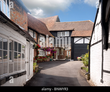 Mews Cottages in High Street,  Old Amersham, Bucks - Stock Photo