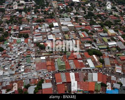aerial view above Managua Nicaragua - Stock Photo