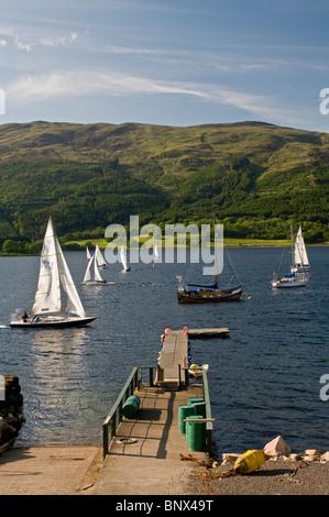 Sailing on Loch Leven, Ballachulish, Glencoe,  Inverness-shire, Highland Region. Scotland. - Stock Photo