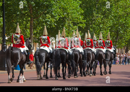 London Life Guards in the Mall July 2010 - Stock Photo