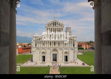 The Duomo in Pisa's Square of MIracles, Italy - Stock Photo