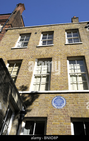 John Constable's House In Well Walk Hampstead London - Stock Photo