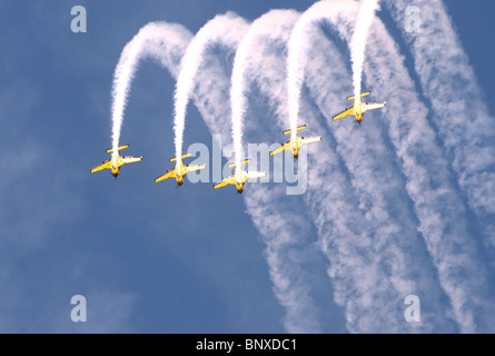 Red Checkers Aerobatic Team At The Whenuapai Air Show 2009 Auckland New Zealand - Stock Photo