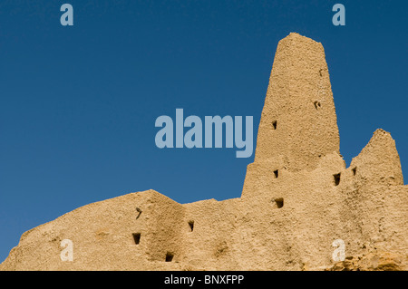 Ruins of the Amun Temple of the Oracle in Siwa Oasis in Egypt - Stock Photo